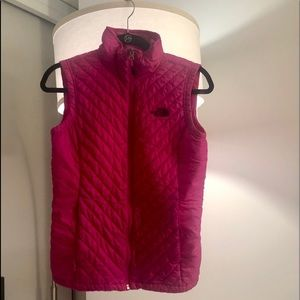 North Face Hot Pink Zip Up Vest